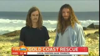 Surfers Rescue Tourist From Drowning, But The Interview Is The Best Part