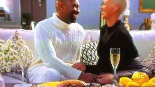 Charles in Charge Deon Cole kisses Amber Rose