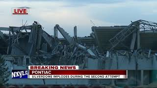 WATCH: Crews successfully implode the Pontiac Silverdome