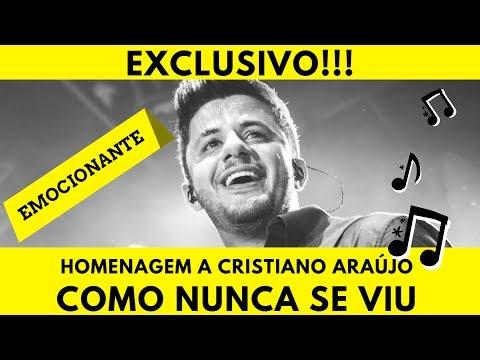 Exclusivo Cristiano Araújo como nunca se viu Clipe Homenagem