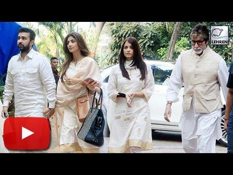 (Video) Shilpa Shetty Father's PRAYER MEET    Aishwarya Rai    Amitabh Bachchan   LehrenTV