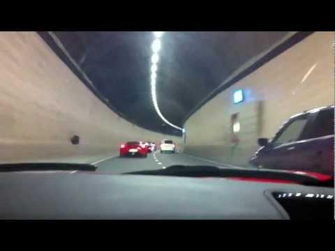 Ferrari 458 Spider TUNNEL Run + Bugatti Veyron & JDC F430!