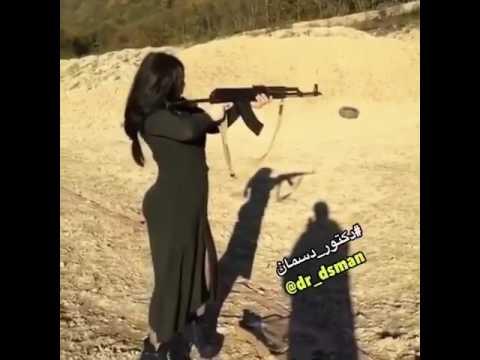 Xxx Mp4 Hot Arab Girl Firing AK47 With Perfection 3gp Sex