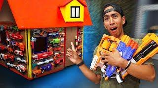NERF Box Fort Mansion Challenge!