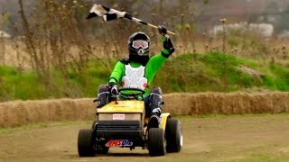 The Dude Perfect Show Lawnmower Racing Battle