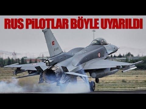 Türk F-16'ları Rus savaş uçağını böyle uyardı