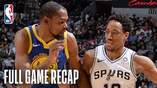 WARRIORS vs SPURS | San Antonio Looks For Their 9th Consecutive Victory  | March 18, 2019