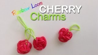 EASY Rainbow Loom Cherry Charms