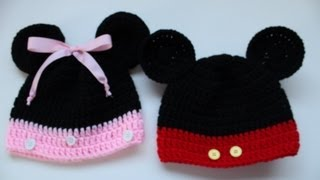 Download Easy to Crochet Mickey and Minnie Disney Inspired beanies - Yolanda Soto Lopez 3Gp Mp4