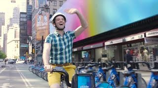 Michael Urie Takes a Star Studded Citi Bike Ride to the Drama Desk Awards