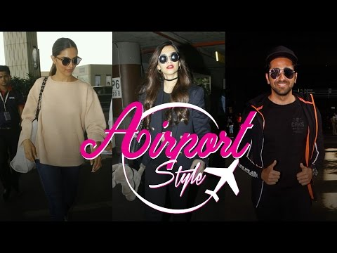 Deepika Padukone, Sonam Kapoor and many more B'Town celebs slay the Airport Fashion