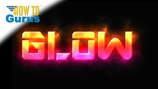 Adobe Photoshop Glowing Text Effect, how to create Glow Style text, CS5 CS6 CC Tutorial
