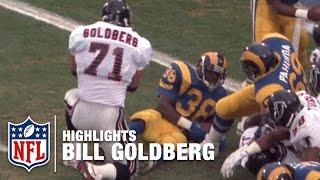WWE Star Bill Goldberg NFL Highlights   Atlanta Falcons
