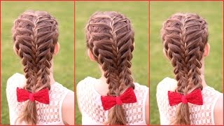(Feathered ) Dutch Braid Hair Tutorial | Braidsandstyles12