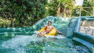 Caneva Aquapark - Crazy River | Long Canyon Waterslide Onride POV