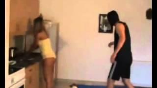 Hot Girl Wrestles Attacker in Her Panties!