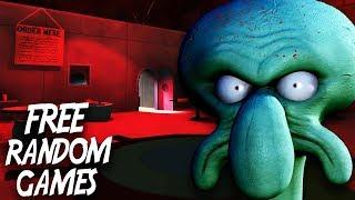 NIGHTMARES AT THE KRUSTY KRAB | Free Random Games
