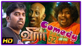 Latest Tamil Comedy Scenes | Veera Tamil Movie | Krishna | Karunakaran | Iswarya Menon | Rajendran
