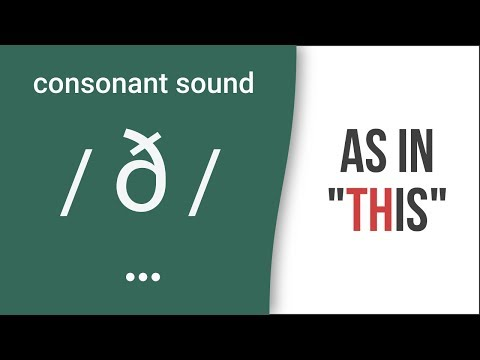 'TH': Consonant Sound /ð/ as in