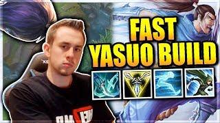 SPEED DEMON YASUO BUILD IS HYPE | HYPER YASUO - League of Legends