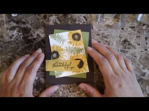 How to make a quick and easy card using the painted harvest stamp set