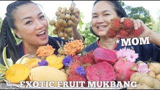 EXOTIC FRUITS MUKBANG WITH MOM *Lets Eat (Thailand) | SASVlogs