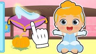 👶 Baby Lily 👶 Lily dresses up as Disney Princess, Cinderella | Educational Cartoons