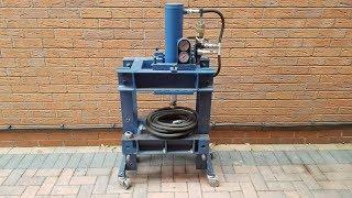Making Portable Hydraulic Workshop Press With Floating Head/Ram & Inverter Driven VFD DIY