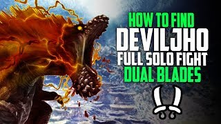 ✔️ HOW TO FIND DEVILJHO! FIRST Deviljho DLC Solo Fight Dual Blades! Monster Hunter World Update