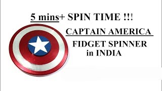 Captain America Fidget Spinner in India | 5mins+ Spin Time | Hindi
