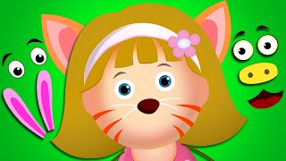 Wrong Face Silly Face Animals Face With Elly Finger Family Song Nursery Rhymes by KidsCamp