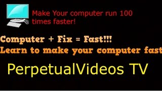 How To Make Your PC/LAPTOP Run 100% Faster! (WIN7,8,10,XP,Vista)