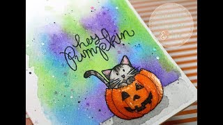 SSS Hey Pumpkin   Mission Gold Watercolors   AmyR Halloween 2017 Video #1