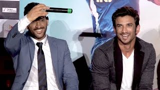 M S Dhoni Mind Blowing Answer To A Funniest Fan - M.S.Dhoni - The Untold Story Trailer Launch