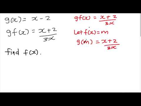 How to find f(x) from gf(x) and g(x)?