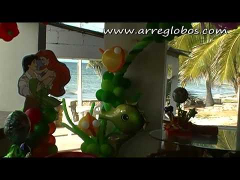 Decoración con globos La sirenita arreglobos