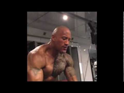 Dwayne The Rock Johnson Workout video 2013 complete Instagram workout video collection