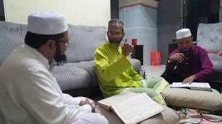 Ust Naina Mohamed Baqawi training with qari Al Ustaz Zul Hamdan