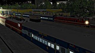 HWH - Puri Sri Jagannath Express || Mid - Night Action Cuttack To Bhubaneswar Journey || MSTS-OR
