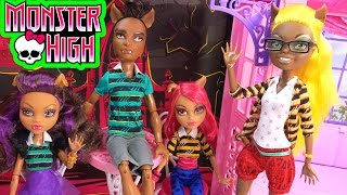 Monster High Pack Of Trouble Clawdeen Howleen Clawd Clawdia Wolf Family Playset Doll Toy Unboxing