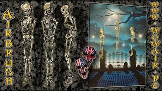 """Airbrush by Wow No.903 """" Skeleton Hangman """" english commentary"""
