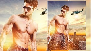 Photoshop Manipulation Tutorial| Movie Poster Design | Photo Effects | Film Poster Design | CS6