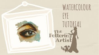 Painting an eye in watercolour