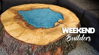 Epoxy Coffee Table (OUR FIRST TRY AND IT LOOKS AMAZING!)