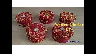 Coin Box    DIY    Decorative Wooden Box