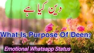 Deen Kya ha | Islamic Whatsapp Status | Muhammad Raza Saqib Mustafai
