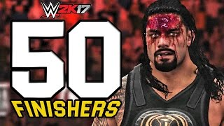 WWE 2K17 | 50 Finishers To Roman Reigns!