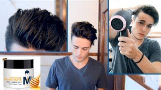 Messy Pompadour - Mens Hair Tutorial & Hairstyle
