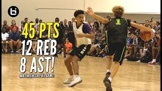 LaMelo Ball Drops 45 Points!! Big Baller Brand Finishes A Game!!