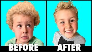Little Boy Haircut Transformation!